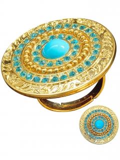 ägypterin Ring Cleopatra gold-türkis