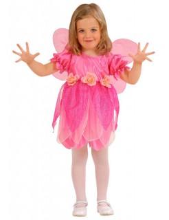 Rosen Elfe Kinderkostüm Fee pink