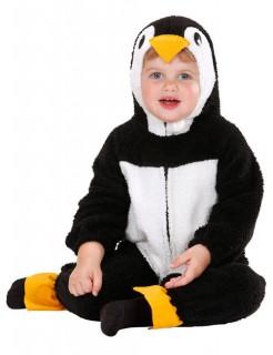 Pinguin Kinderkostüm Babykostüm aus Plüsch schwarz-weiss