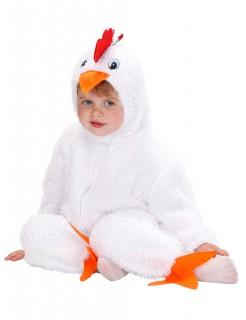 Hühnchen Baby- und Kleinkinderkostüm aus Plüsch weiss-orange-rot