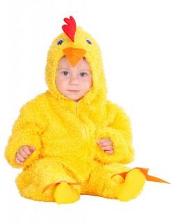 Hühnchen Kinderkostüm Babykostüm aus Plüsch gelb