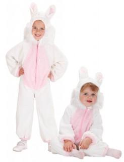 Hasen Kostüm für Babies und Kleinkinder Faschingskostüm weiss-rosa