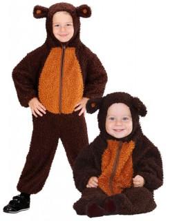 Bär Baby und Kleinkinderkostüm aus Plüsch braun
