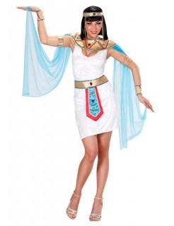 ägypterin Damen-Kostüm Cleopatra weiss-türkis-gold