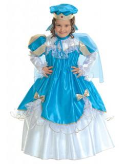 Königin Kinderkostüm blau-weiss-gold