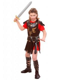 Gladiator Kinderkostüm Römer rot-braun-gold