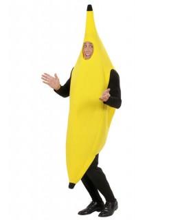 Banane Karneval Kostüm gelb-schwarz