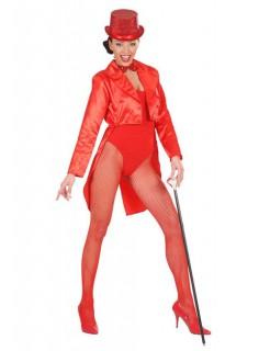 Satin-Frack für Damen Showgirl rot