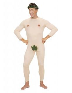 Nackter Mann Adam Herrenkostüm beige-grün