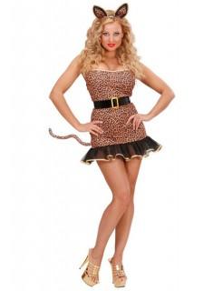 Heisser Leopard Damenkostüm Raubkatze braun-schwarz
