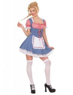 Dirndl-Damenkostüm Oktoberfestkostüm blau-rot-weiss