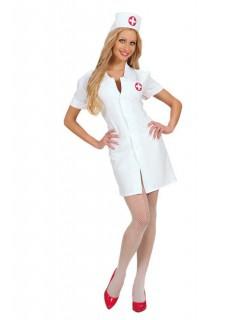 Krankenschwester Damenkostüm Pflegerin weiss-rot