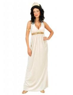 Römische Göttin Samt Damenkostüm Antike weiss-gold