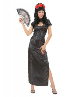 Japanerin Damenkostüm Geisha schwarz
