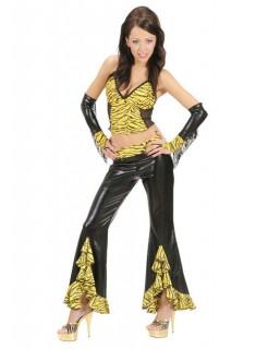 Sexy Damen-Top Tiger schwarz-gelb