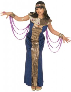Ägypterin Damenkostüm Pharaonin XL dunkelblau-gold