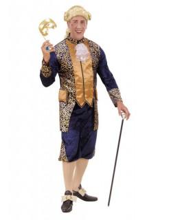 Edelmann Barock Kostüm Renaissance blau-gold