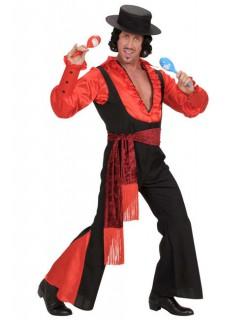 Spanier Torero Kostüm rot-schwarz