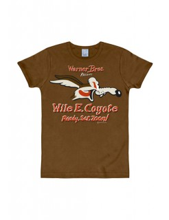 Looney Tunes™ Wile E. Coyote Slimfit T-Shirt braun-bunt