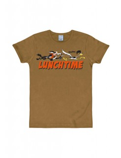 Looney Tunes™-T-Shirt Lunchtime Slim Fit braun-bunt