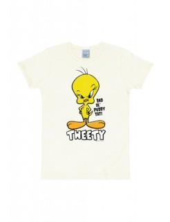 Looney Tunes™ Tweety-T-Shirt Slim Fit weiss-gelb