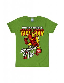 Iron Man™-T-Shirt Marvel™ Slim Fit grün-bunt