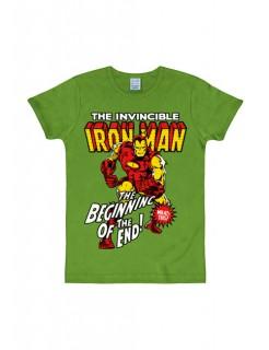 Iron Man™-T-Shirt Marvel™ Slim Fit grün-bunt