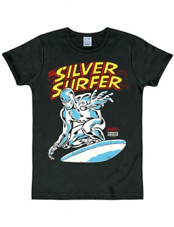 Silver Surfer-T-Shirt Marvel™-Lizenzshirt schwarz-bunt