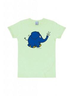 Die Sendung mit der Maus T-Shirt Elefant-Motiv pastellgrün-blau