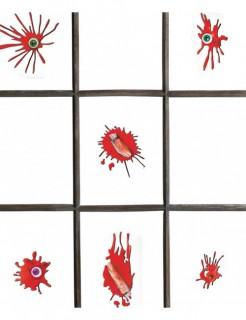 Blutige Gel-Sticker Halloween-Deko Set 12-teilig rot