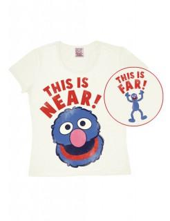 Sesamstraße™-T-Shirt Grobi Slim Fit weiss-rot-blau