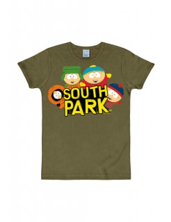 South Park™-T-Shirt Wild Bunch Slim Fit oliv-bunt