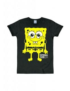 Spongebob Schwammkopf™-T-Shirt Lizenzartikel Slim Fit schwarz-gelb