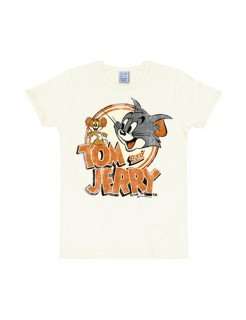 Tom & Jerry Shirt weiss-orange