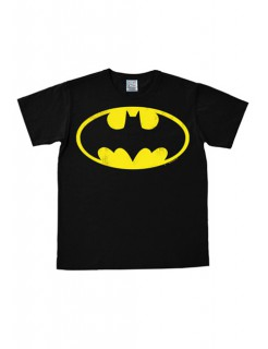 Batman™-Logoshirt easy fit schwarz-gelb