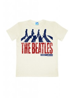 The Beatles-T-Shirt Abbey Road Easy Fit weiss-blau-rot