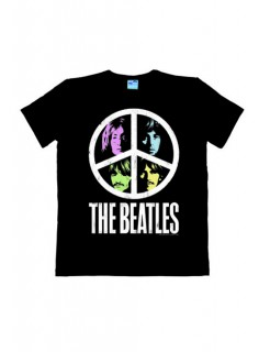 The Beatles™ T-Shirt Vintage Peace Easy Fit Fanshirt schwarz-bunt
