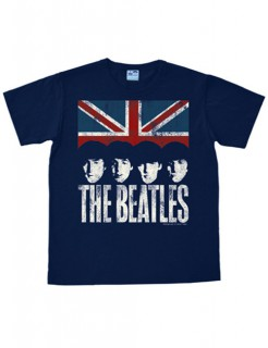 The Beatles-T-Shirt United Kingdom Easy Fit blau-rot-weiss