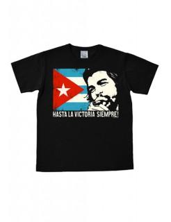 Che Guevara-T-Shirt Easy Fit Hasta la victoria siempre schwarz-bunt