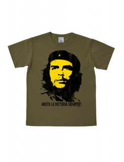 Che Guevara-Shirt Hasta la victoria siempre easy fit olivgrün-schwarz-gelb