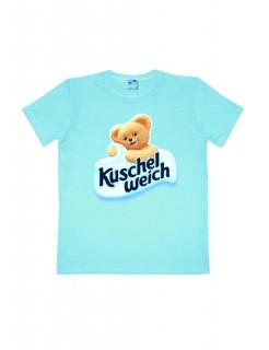 Kuschelweich-T-Shirt Bär Easy Fit hellblau