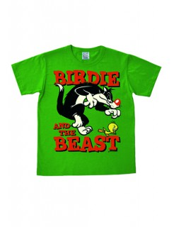 Looney Tunes™-T-Shirt Birdie and the Beast grün-bunt