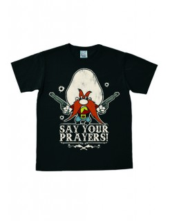 Looney Toons  Say your Prayers  T-Shirt Lizenzartikel schwarz