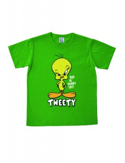 Looney Tunes T-Shirt Tweety Easy Fit Fanshirt grün