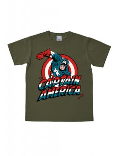 Marvel Captain America T-Shirt Easy Fit oliv-bunt