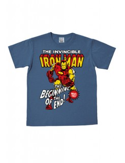 Iron Man™-T-Shirt Marvel™ easy fit blau-bunt