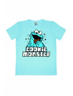 Sesamstraße Cookie Monster Krümelmonster Easy Fit T-Shirt Lizenzware hellblau