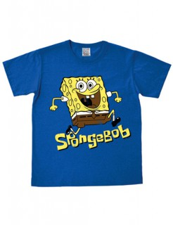 Spongebob Schwammkopf T-Shirt Easy Fit blau