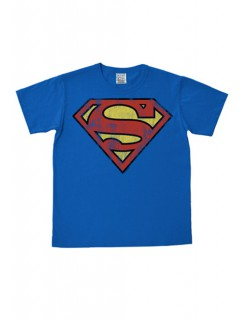 Superman T-Shirt Logo Easy Fit Fanshirt blau-rot-gelb