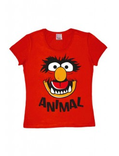 Muppets Faces Animals Girlie Shirt rot